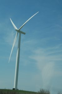 A wind turbine can be effective using prevailing winds.